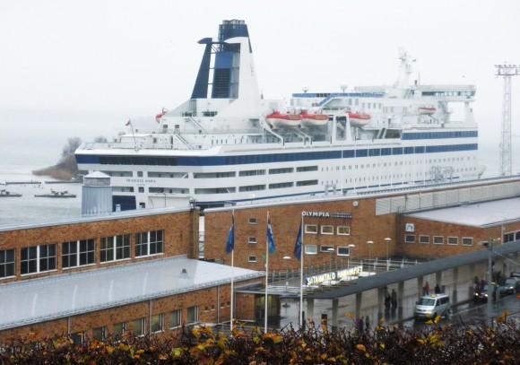 Паром Принцесса Мария в порту Хельсинки