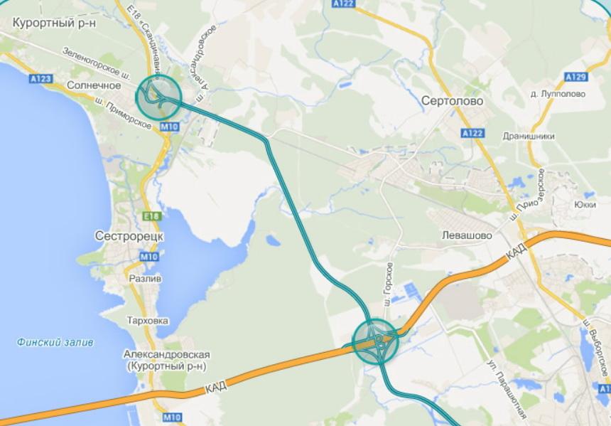 трассу Е-18 «Скандинавия»