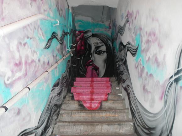 Лестница в таймкафе СейЧас