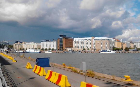 от паромного терминала в Хельсинки до центра города