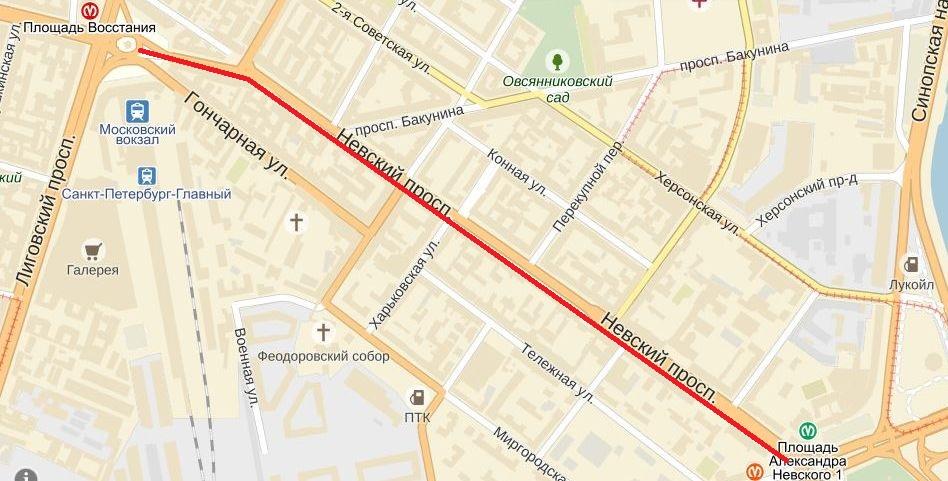 Где поесть на Невском от площади Восстания до площади Александра Невского