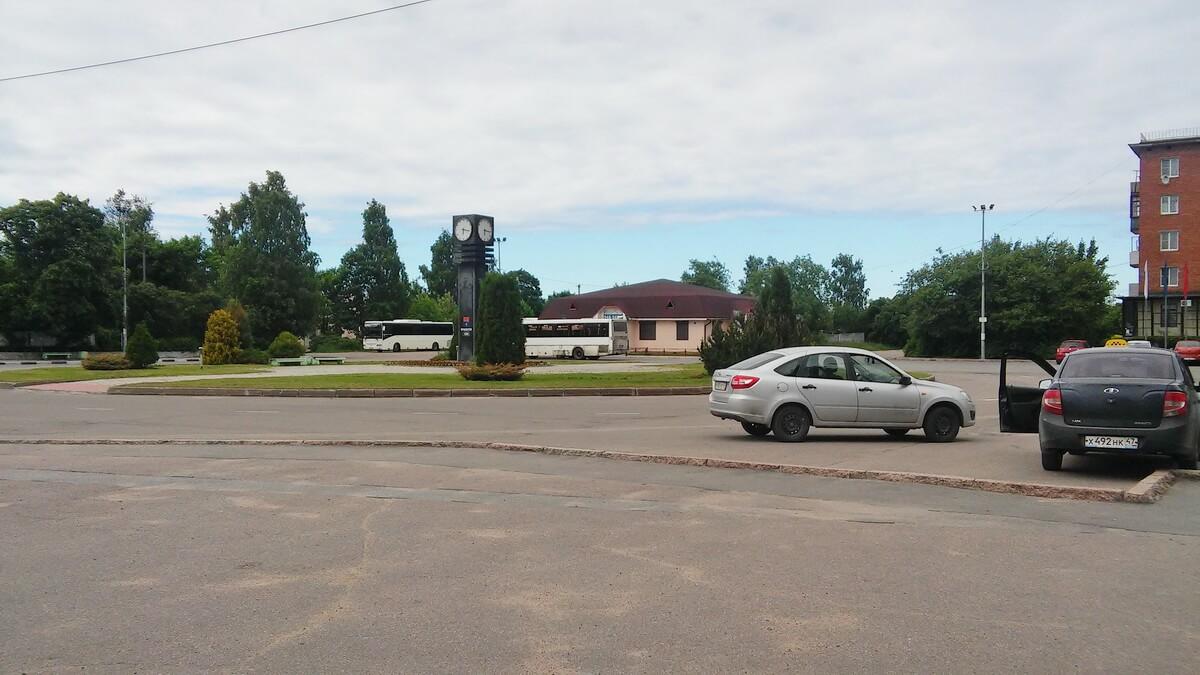 Привокзальная площадь в Приозерске