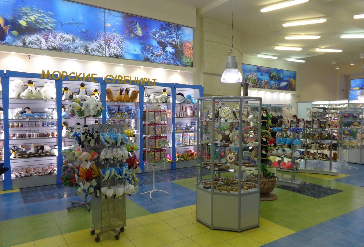 Сувенирный магазин на выходе из Океанариума