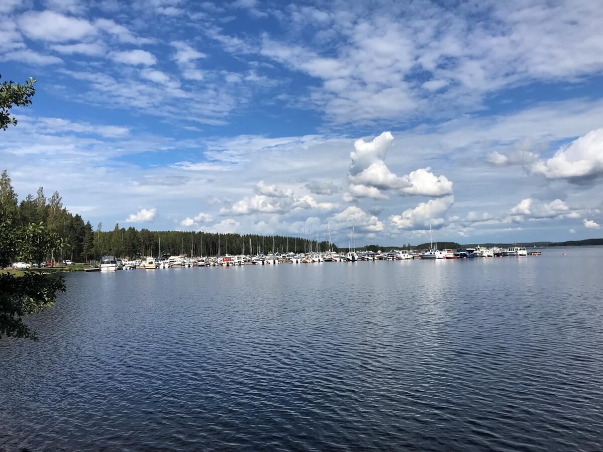 Озеро в Иматре, Финляндия