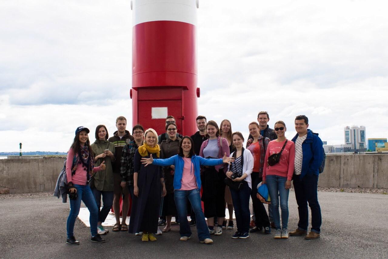 Участники экскурсии по маякам Кронштадта