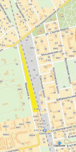 где находится блошиный рынок на Удельной, карта