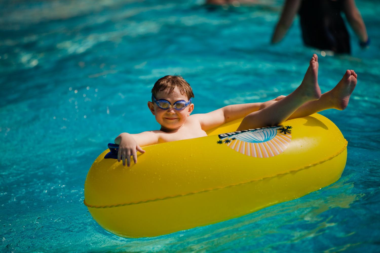 В детской зоне очень теплая вода