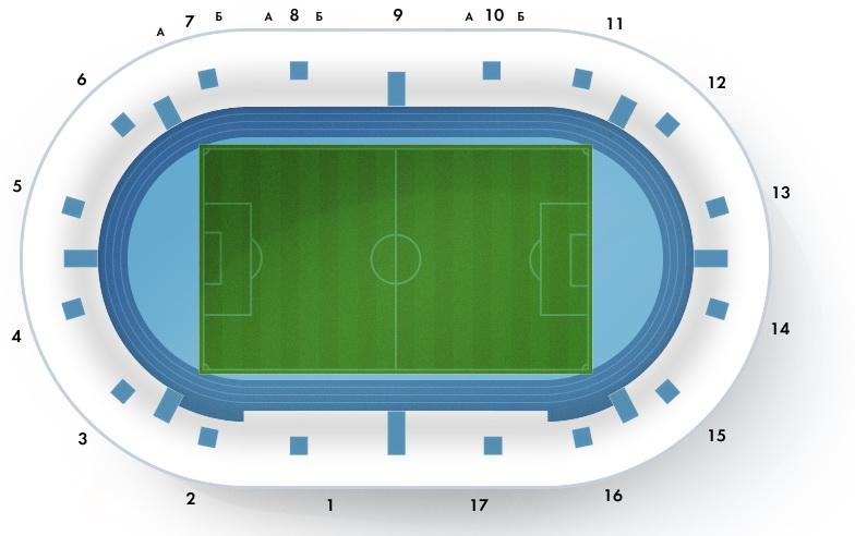 Схема стадиона `Петровский`