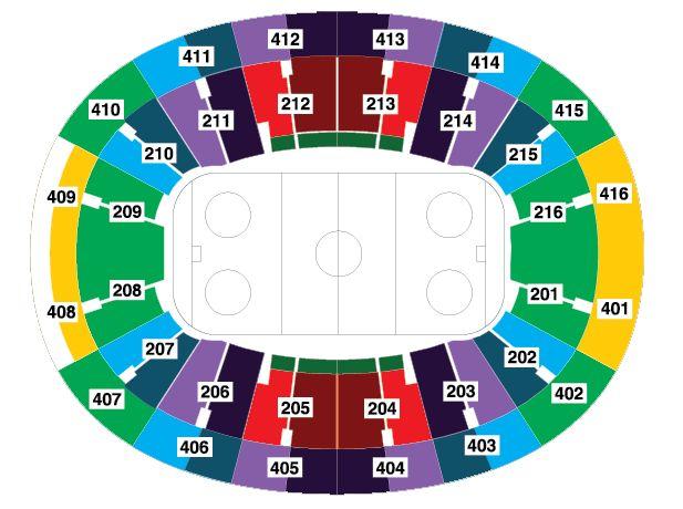 Схема мест арены Ледового дворца