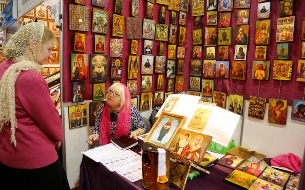 На выставке можно будет купить православные иконы и книги