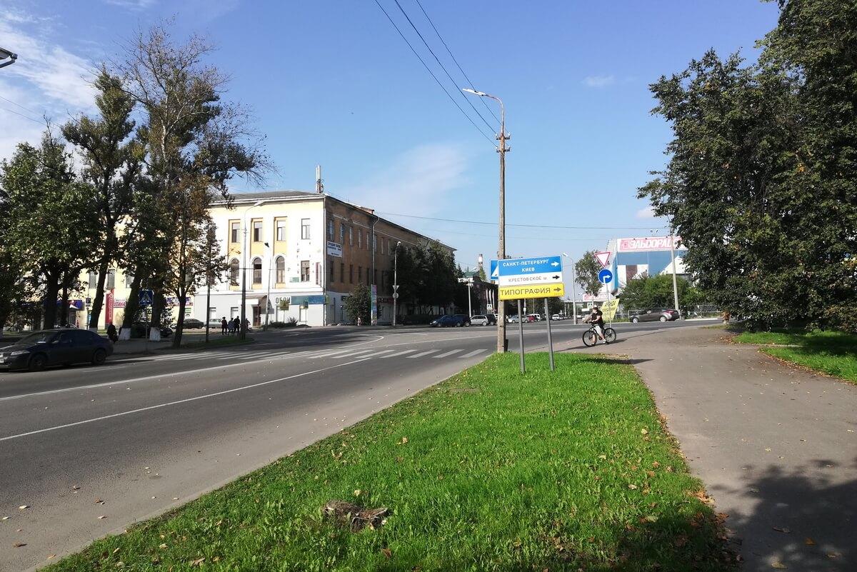 Пересечение улицы Вокзальной и Октябрьского проспекта