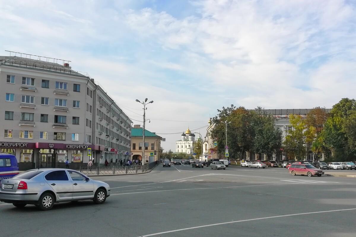 Вид на Кремль с Октябрьского проспекта