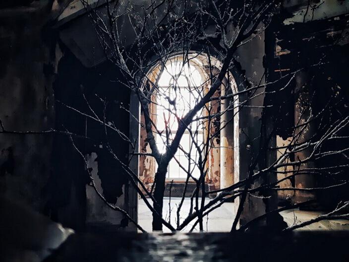 Опалённые пожаром стены превратятся в самые настоящие декорации