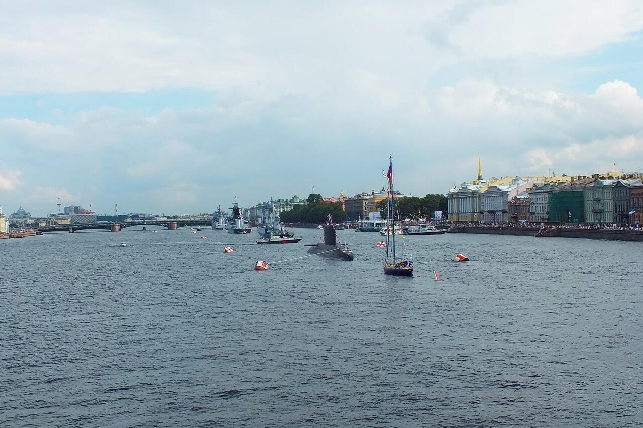 Военно-морской парад в честь Дня ВМФ