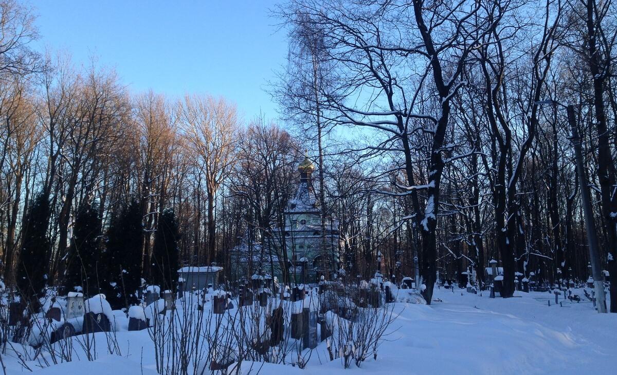 Часовня Ксении зимой