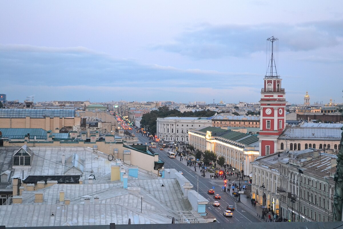Вид на Невский проспект