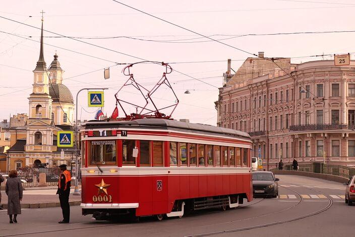Туристический трамвай в СПб