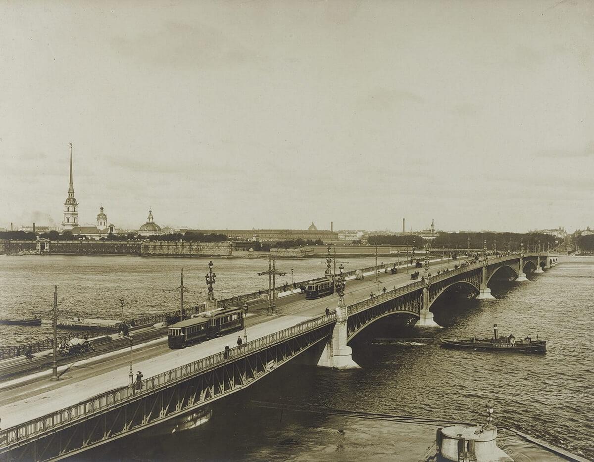 Троицкий мост. Издание Б. Аванцо. 1900-е