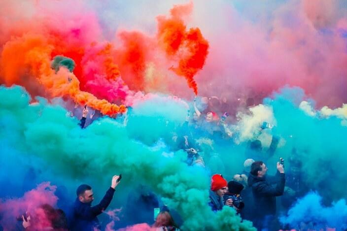 Фестиваль цветного дыма