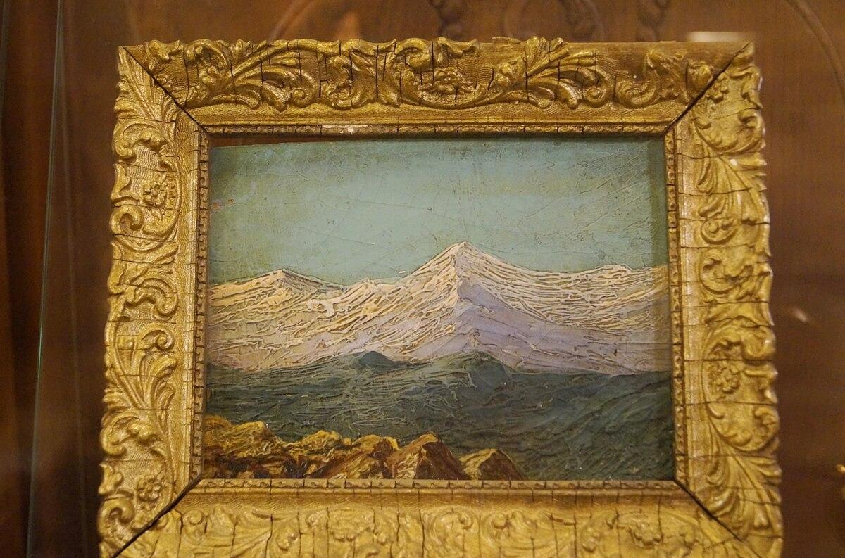 Пейзаж работы матери писателя - Е.И. Набоковой
