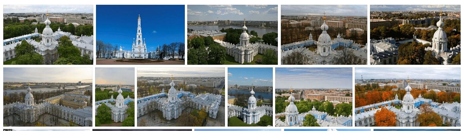 Звонница Смольного собора в Яндекс.Картинках