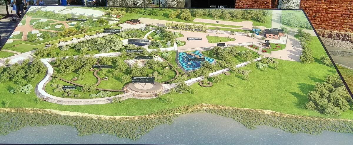 План `Острова фортов`