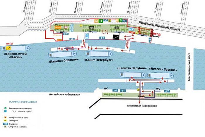 Схема стоянки ледоколов