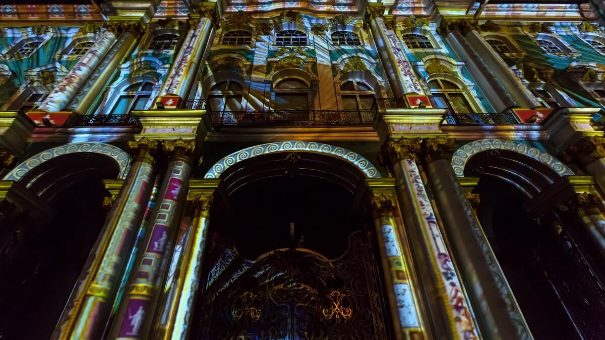 3D mapping на Дворцовой