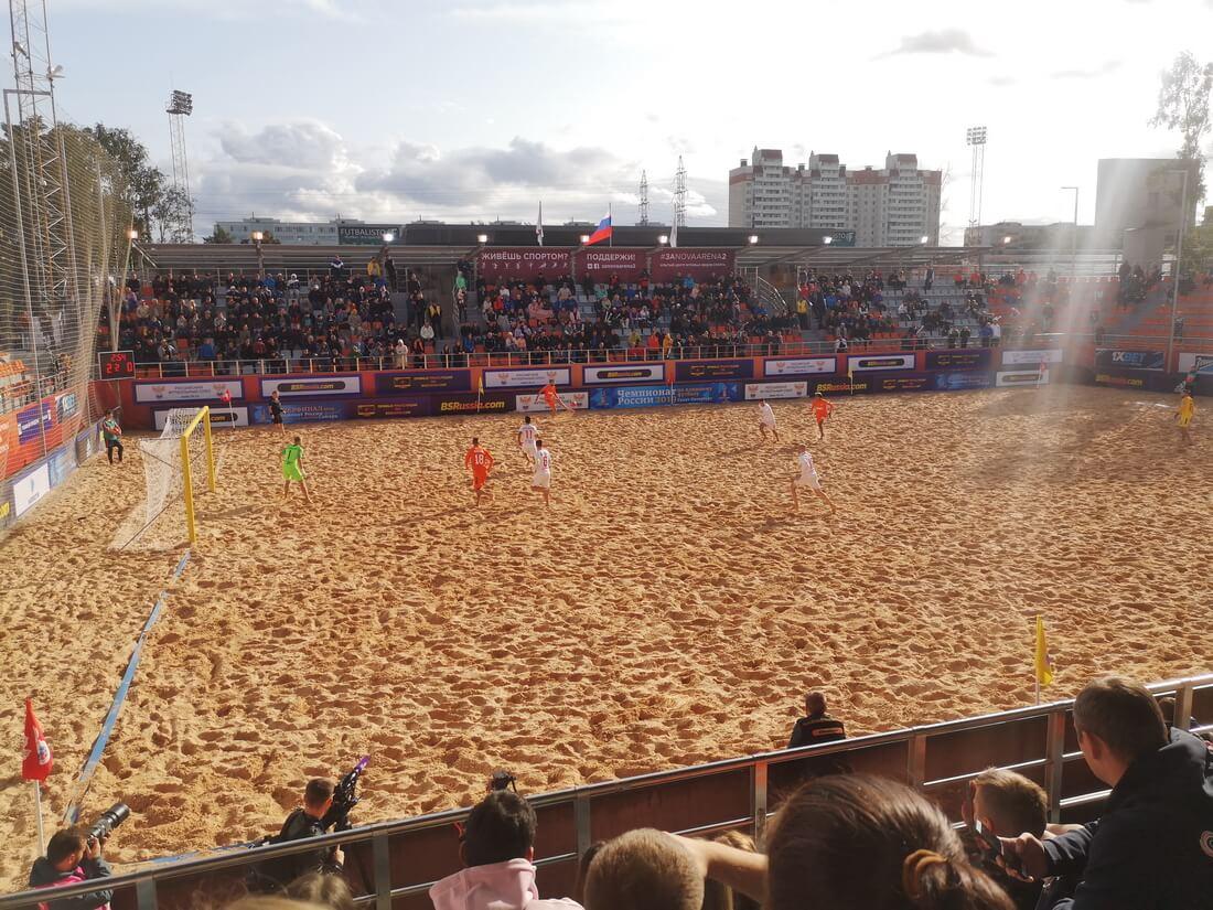 Пляжный футбол на Nova Arena