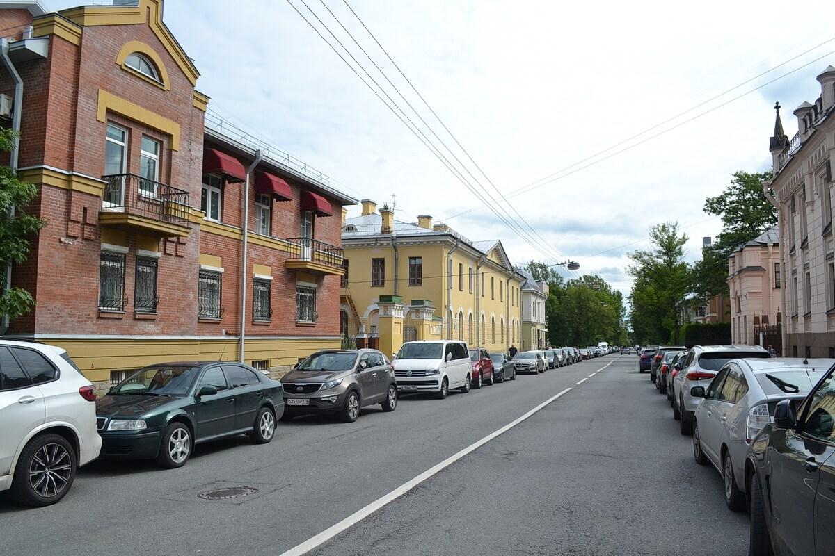 Одна из улиц Пушкина