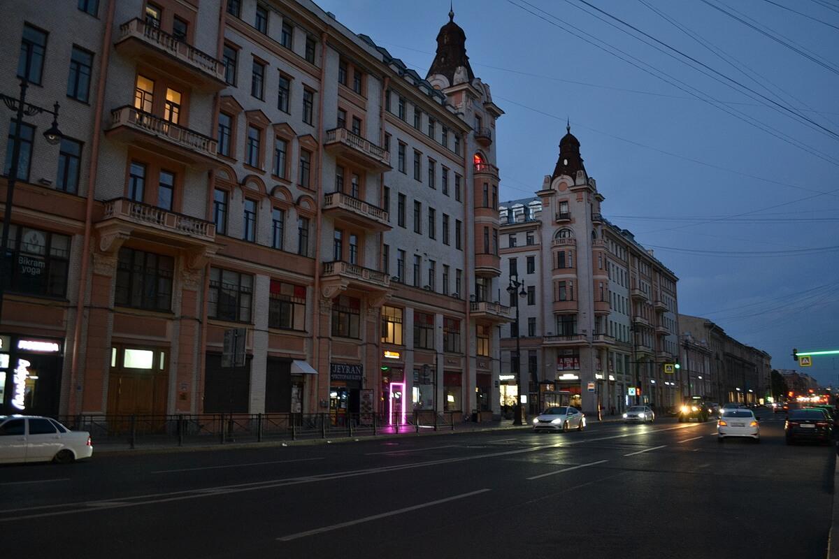 Самое начало Московского проспекта, 2:30 ночи