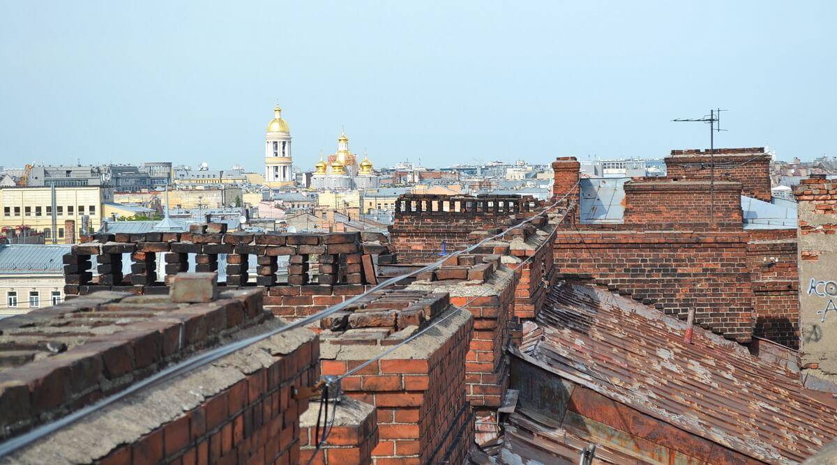 Крыша в центре Петербурга