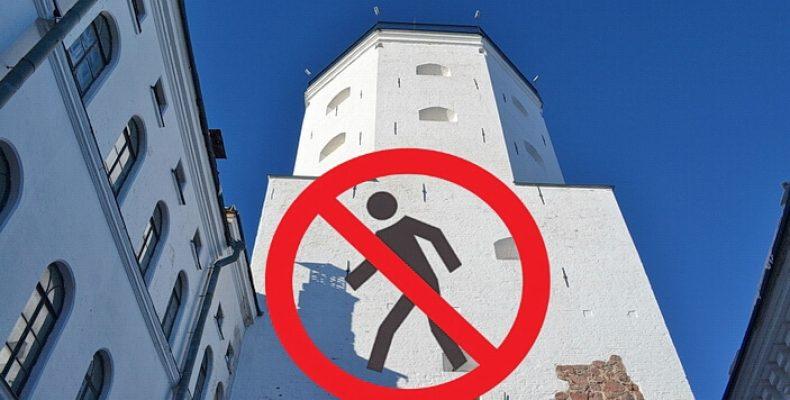 Башню Святого Олафа Выборгского замка снова закрывают с 9 марта