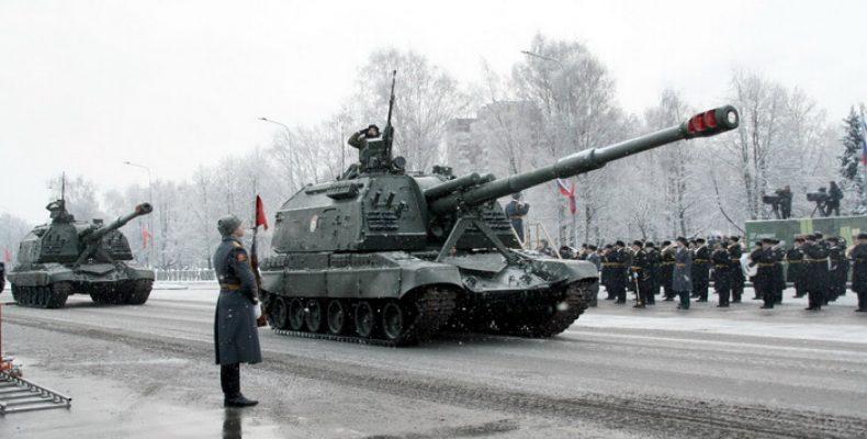 Парад на День снятия блокады Ленинграда 27 января на Дворцовой площади